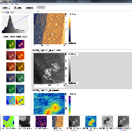Screen capture of Palette function. The preview of the image with various palettes is shown on the left panel. Any of the pre-defined palettes can be edited and saved as a new palette.