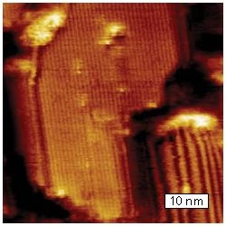 Crystalline lamella in polyethylene
