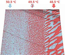HD PFM study of real-time temperature dynamic of TGS crystal near Curie point. Topography is overlayed by out-of-plane piezoresponse. Scan size is 15 × 15 μm.