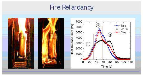 Enhanced Fire Retardancy of CNFs vs Talc and Clays.