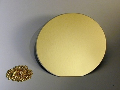 Gold coated silicon wafers