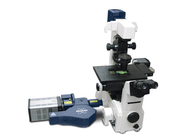The Opterra Multipoint Scanning Confocal Microscope from Bruker's new Fluorescence Microscopy business (formerly Prairie Technologies)