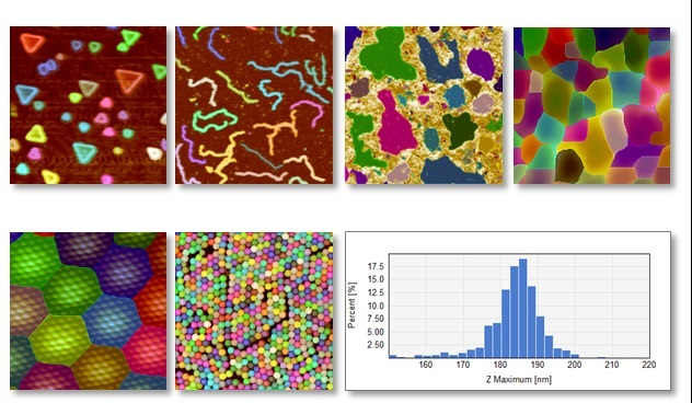 Particle & pore analysis applied to various types of particles, pores and grains
