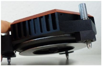 Photo of FlexAFM scan head with a sealing membrane