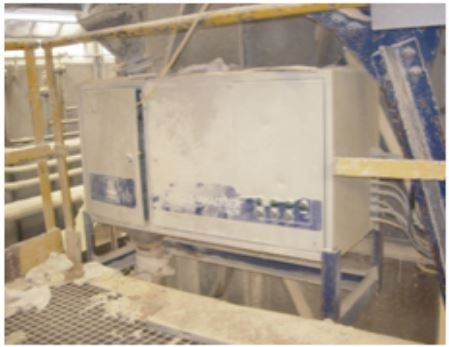 Online image analyzer in a fertilizer plant, working continuously since 1995 without service