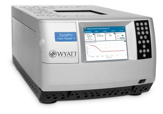 The DynaPro Plate Reader III measures dynamic and static light scattering in situ in standard microwell plates.