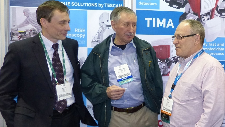 Michal Rabara, President & CEO TESCAN USA, Wolfgang Baum, Managing Director, Ore & Plant Mineralogy LLC, Paul Gottlieb, TESCAN Business Development Manager-TIMA