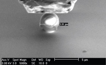 Young's Modulus of Glass Microspheres