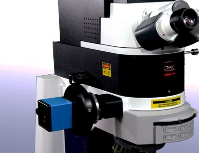 Raman Spectroscopy of Microscopic Samples - CRAIC Apollo Raman Spectrometer