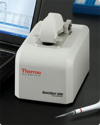 Espectrofotômetro 2000 Científico Thermo do Uv-Vis de NanoDrop