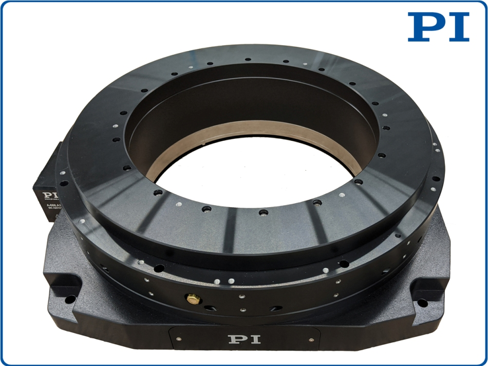 New Custom Rotary Stages with Large Aperture Based on Air Bearings