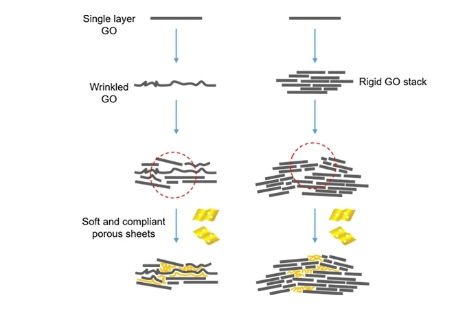 Strong and Weak GO Flakes can be Combined to Produce Better GO Paper