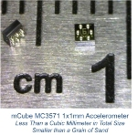 mCube Introduces 3-Axis Accelerometer Smaller Than a Grain of Sand