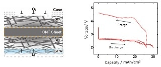 CNTs' Large Surface Area and Flexible Structure Produce Ultra-High Capacity Lithium-Air Batteries