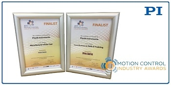 Motion & Control Industry 2017 Awards Skills & Training Finalist is PI (Physik Instrumente)