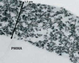 AZoNano - The A to Z of Nanotechnology - TEM photo of a cross section of AdNano® ITO LUV1-coating on a PMMA film