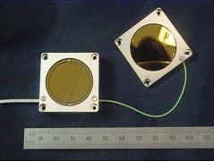 AZoNano - Nanotechnology - Probe and Target Sensor showing active area (A), guard ring and housing.