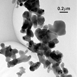 AZoNano - The A to Z of Nanotechnology - Commercial alumina (1100 ºC, 5 hours calcining), the scale is approximately 10 times that of Figure 7